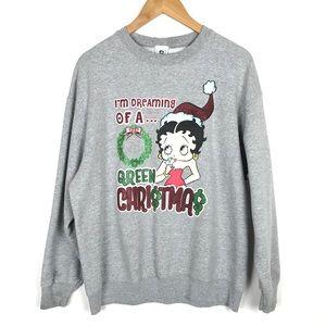 Betty Boop Christmas Sweatshirt Lg/XL? Gray